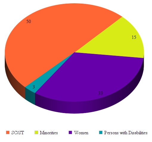 Pie chart of social inclusion