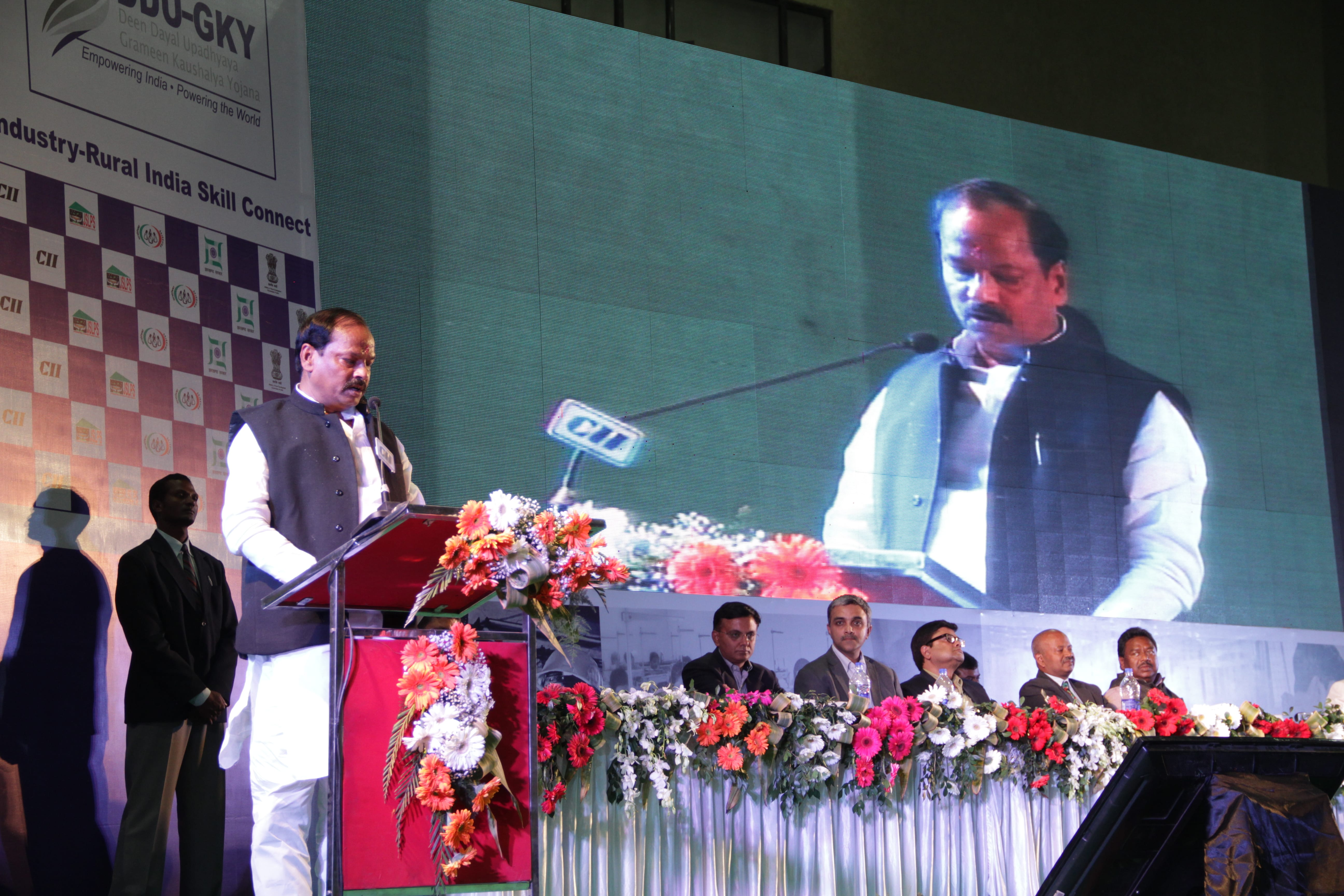 Hon'ble CM, Jharkhand Addresing the gathering at Industry-Rural India Connect