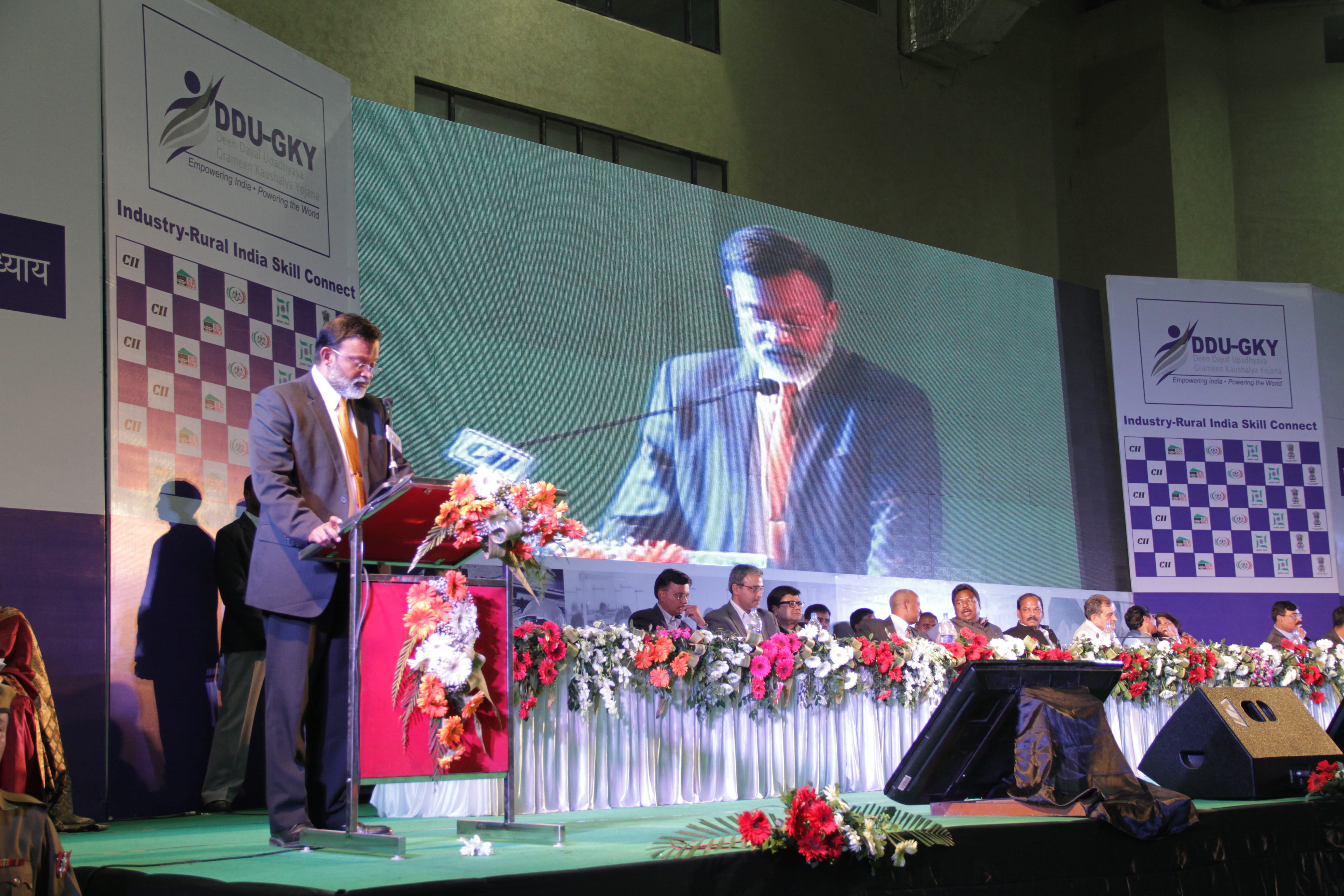 JS, Skills, MORD, giving vote of thanks at Industry-Rural India Connect
