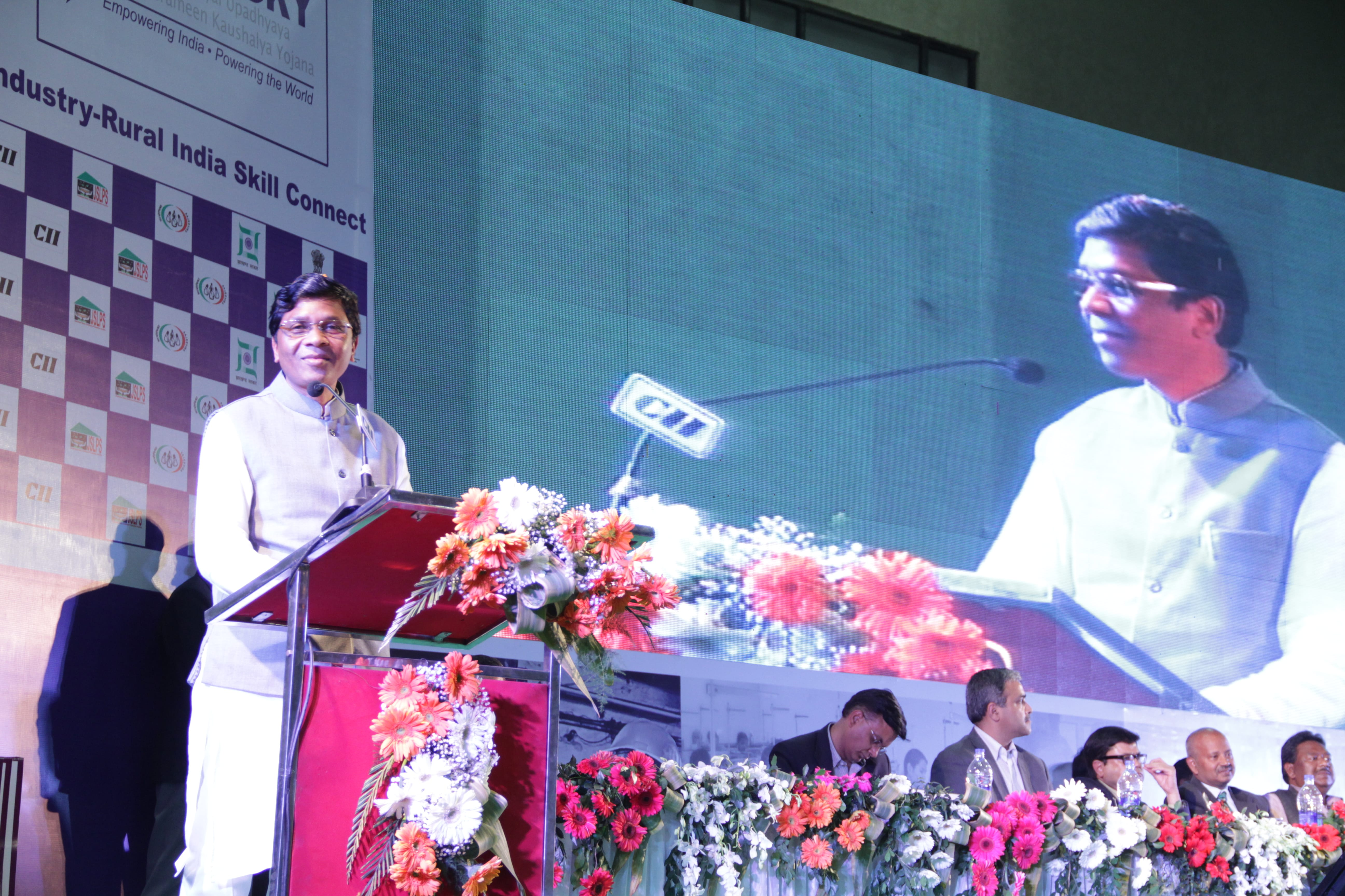 MOS, MORD addressing the gathering at Industry-Rural India Connect