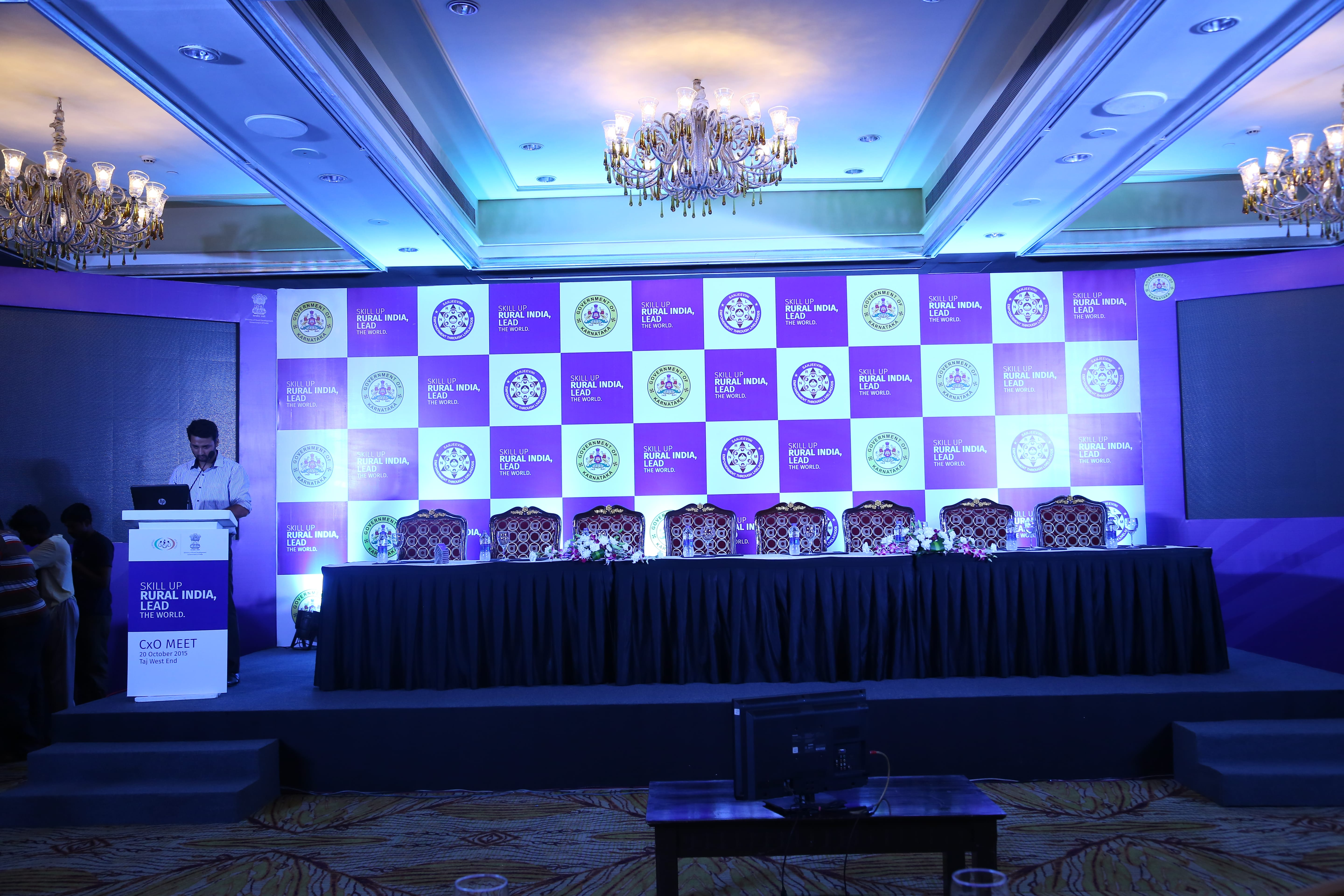 Stage of event at The Taj West End