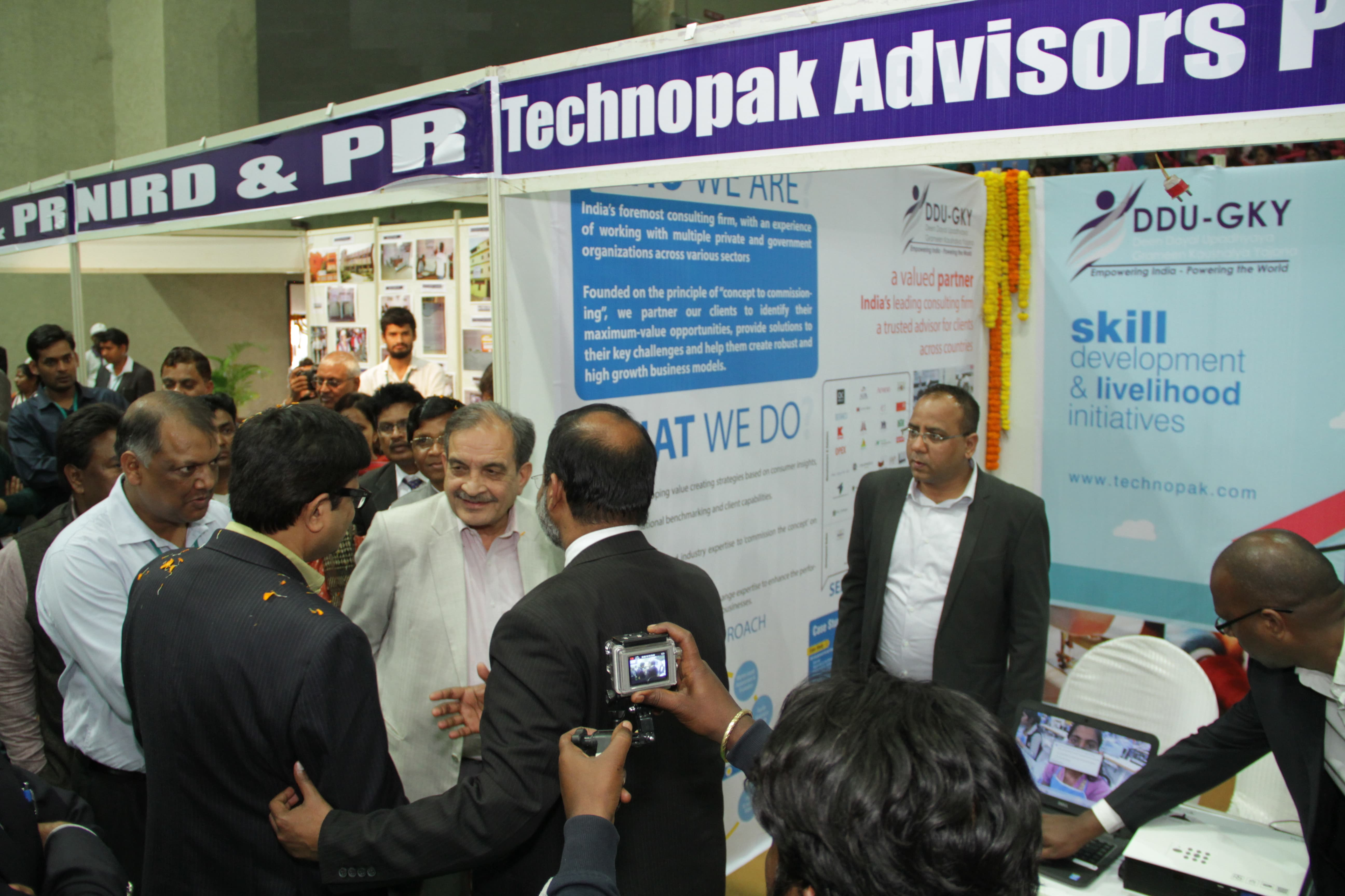 Visit to stall VIP