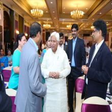 Hon'ble Minister, Shri H K Patil, Govt. of Karnataka  interacting with the particpants