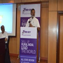 Shri A. Santhosh Mathew, JS (S), DDU-GKY, MoRD, addressing the gathering