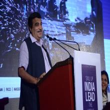 Shri Nitin Gadkari, Former MRD addresing the gathering at Launch of DDUGKY on 25.09.2014, Delhi (2)